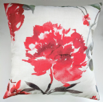 "Cushion Cover in Next Watercolour Flourish Red 14"" 16"" 18"" 20"" Matches Curtains"